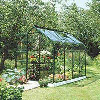 "Halls Supreme 86 Aluminium Greenhouse Green Toughened Glass 6' 3"" x 8' 4"""