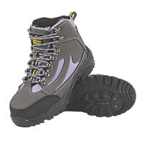 Amblers  Ladies Hiker Safety Boots Grey/Lilac Size 5