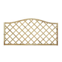 Forest Hamburg Open-Lattice Fence Panels 1.8 x 0.9m 10 Pack