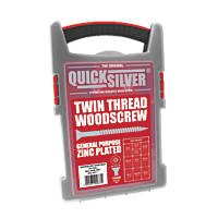 Quicksilver PZ Double Countersunk Woodscrews Trade Case Grab Pack 1000 Pcs