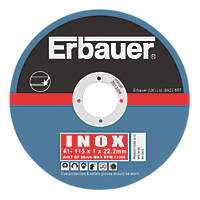 Erbauer Cutting Discs 115 x 1 x 22.23mm 5 Pack
