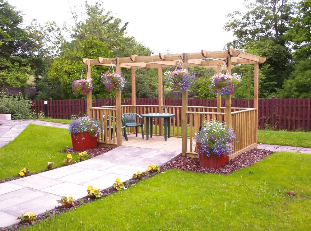 Finnlife Double Deck Pergola & Balustrade Kit 2.4 x 4.4 x 2.4m
