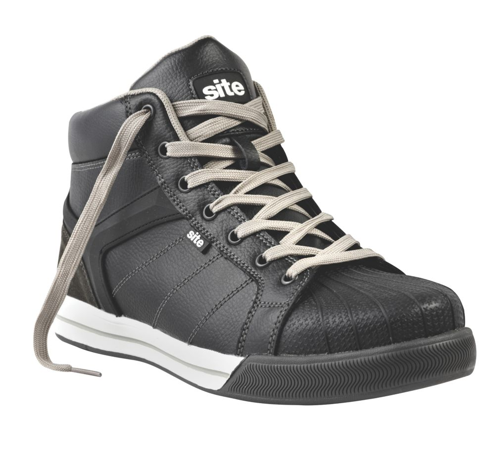 Site Shale Hi-Top Safety Trainer Boots Black Size 8