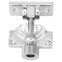 Carlisle Brass Sash Fastener Brighton Pattern Satin Chrome 64mm x 23mm