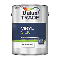Dulux Trade Silk Emulsion Paint Pure Brilliant White 5Ltr
