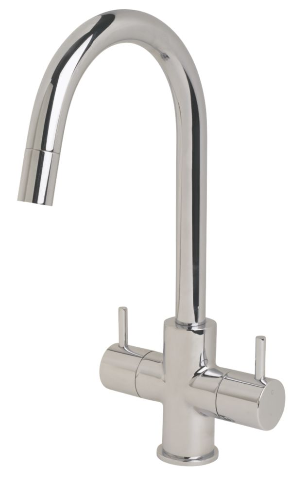 Swirl Fresco Pull-Out Mono Mixer Kitchen Tap Chrome