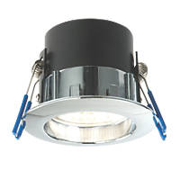 LAP Fixed Integrated LED Downlight 500lm Chrome 5.5W 220-240V