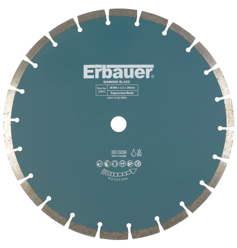 Erbauer Sintered Diamond Blade Segmented 300 x 20mm