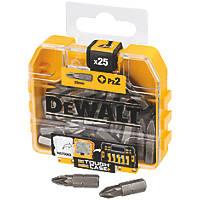 DeWalt Pozi Screwdriver Bit Box PZ2 x 25mm 25 Pack