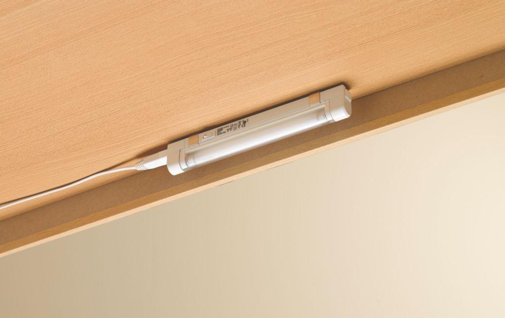 Linolite:Sylvania White CabinetLite T5 Light 6W 245mm