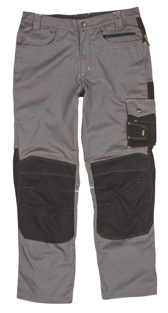 "Site Boxer Trousers Grey/Black W 40"" L 32"""