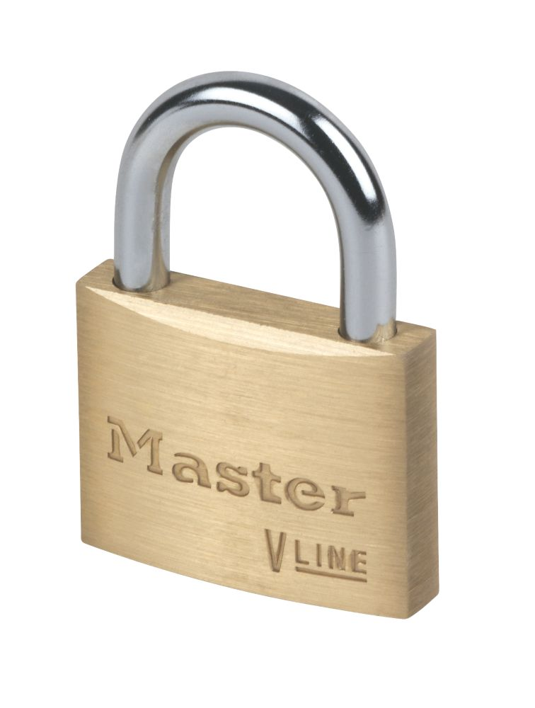 Master Lock Keyed Alike Brass Padlock 50mm