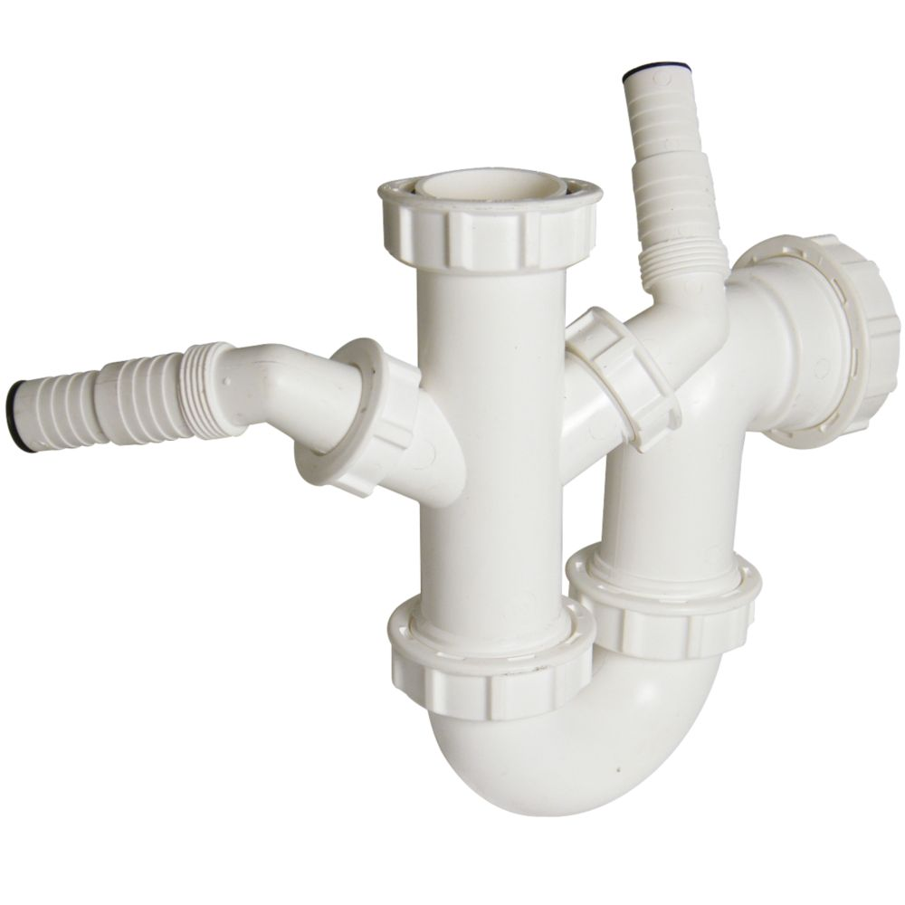 FloPlast TW477 Dual Sink & Wash Trap 40mm