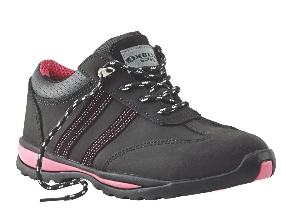 Amblers Steel Ladies Safety Shoes Black Size 7