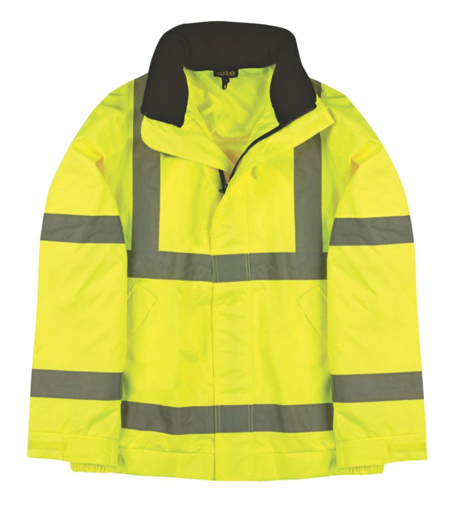 """Site Hi-Vis Lightweight Bomber Jacket Yellow X Large 59"""" Chest"""