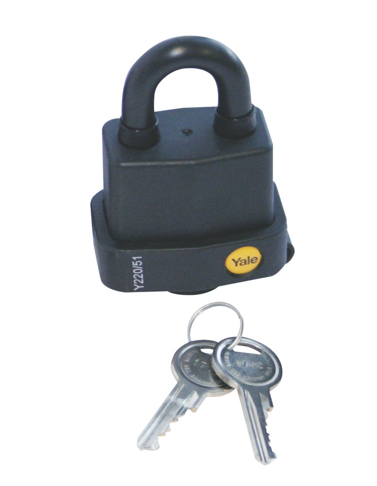 Yale® Weatherproof Steel Padlock 53mm