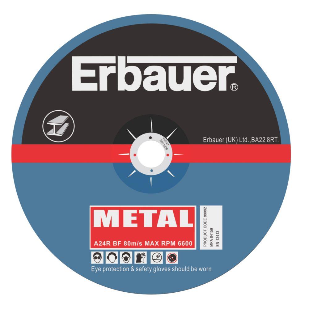 Erbauer Metal Cutting Discs 230 x 2 x 22.23mm Pack of 5
