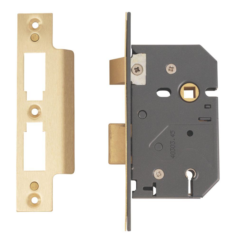 """Yale 5-Lever Sashlock Polished Brass 2½"""" (64mm)"""