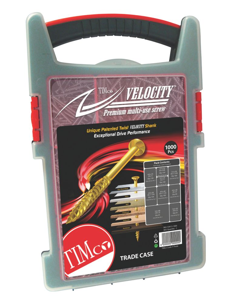 TIMco Velocity Multipurpose Trade Case 1000Pcs
