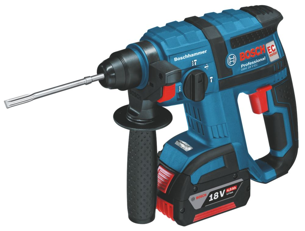 Bosch GBH18V-LI 2.6kg 4Ah Li-Ion SDS Plus Hammer Drill 18V Coolpack Battery
