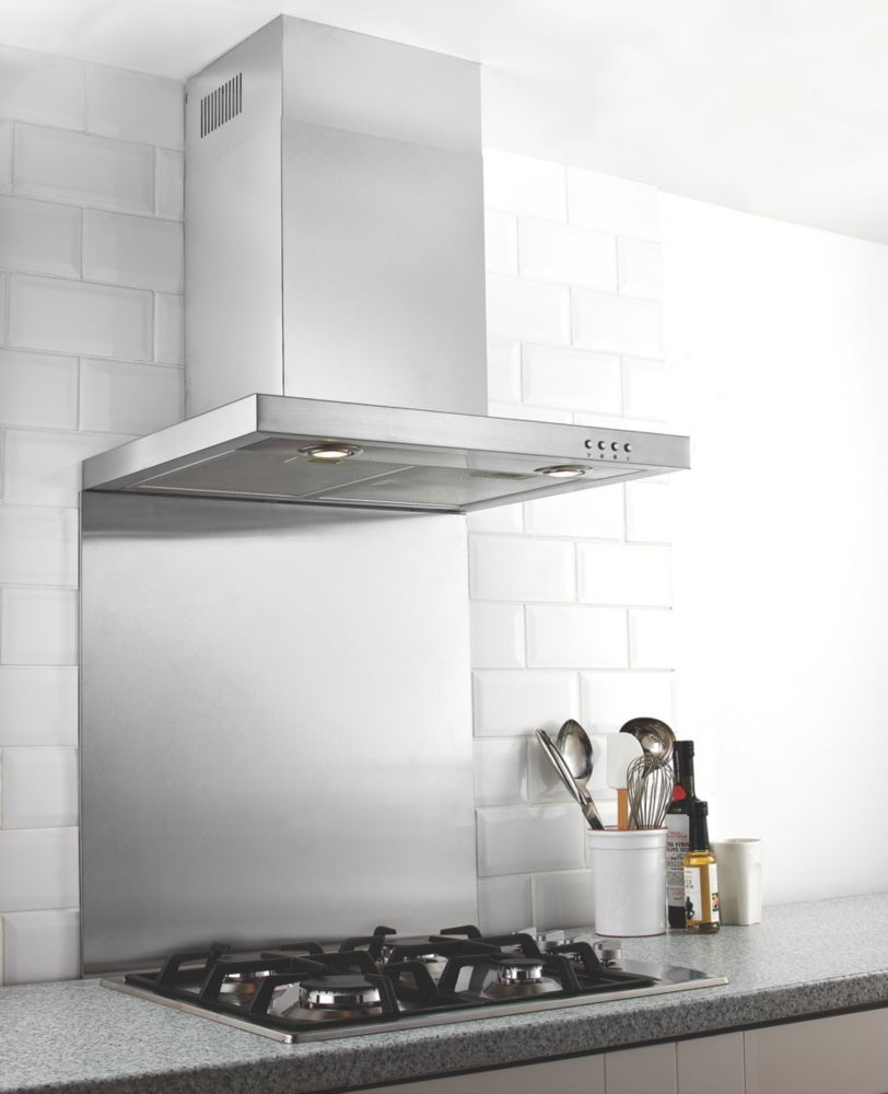 Stainless Steel Splashback 750 x 900mm