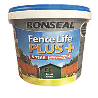 Ronseal Fence Life Plus Shed & Fence Treatment Forest Green 9Ltr