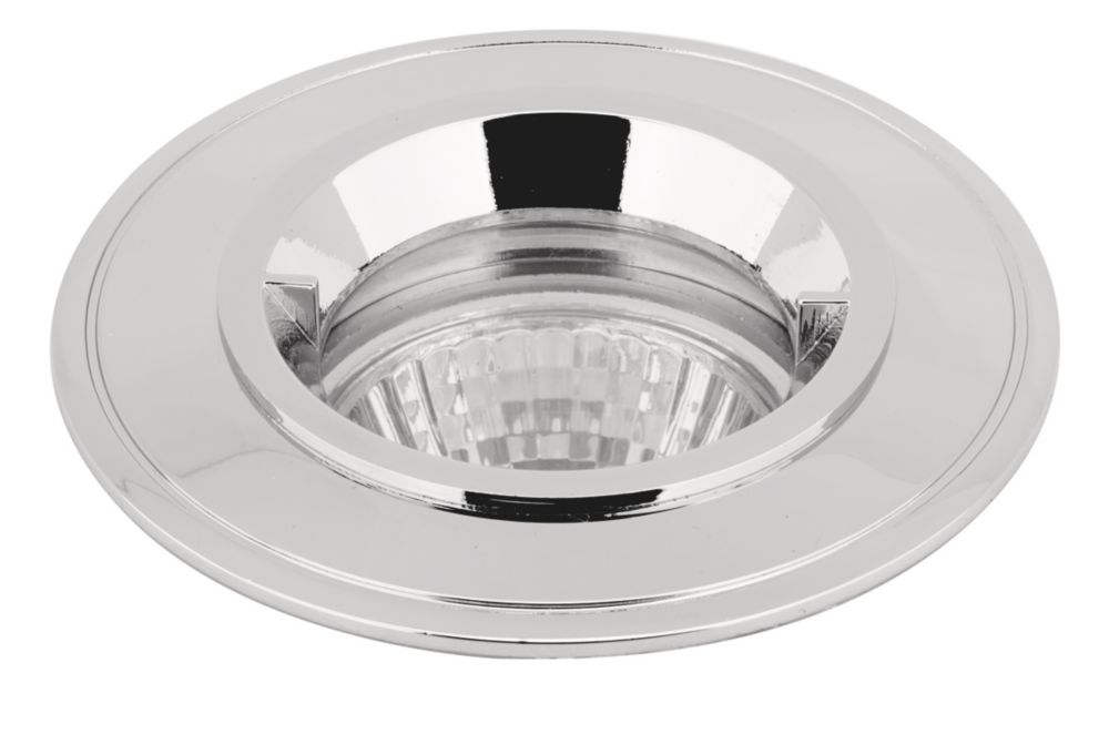 Halolite Fixed Mains Voltage Bathroom Downlight Polished Chrome 240V