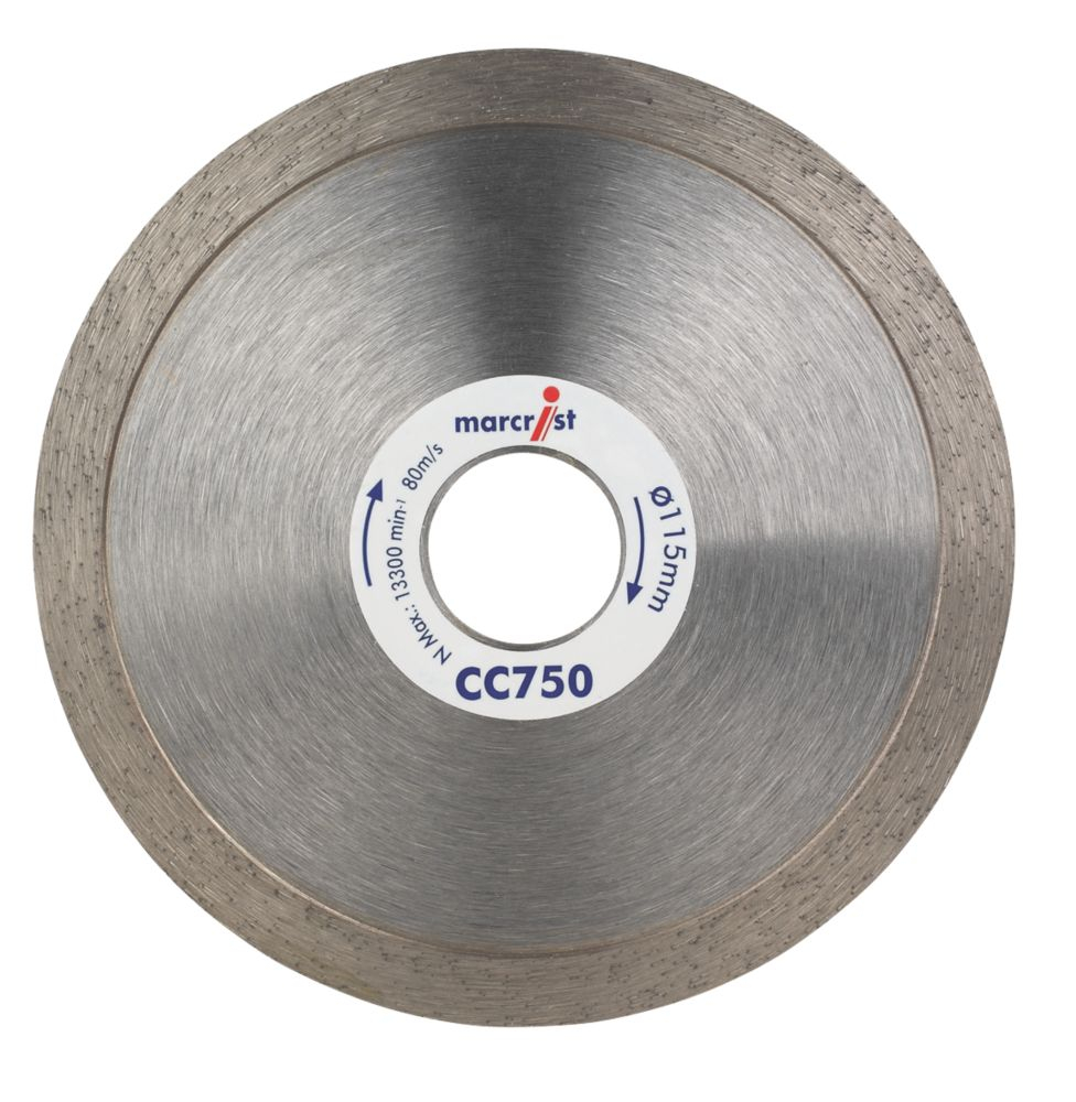 Marcrist CC750 Tile Curve Cutting Blade 115 x 22.2mm Bore