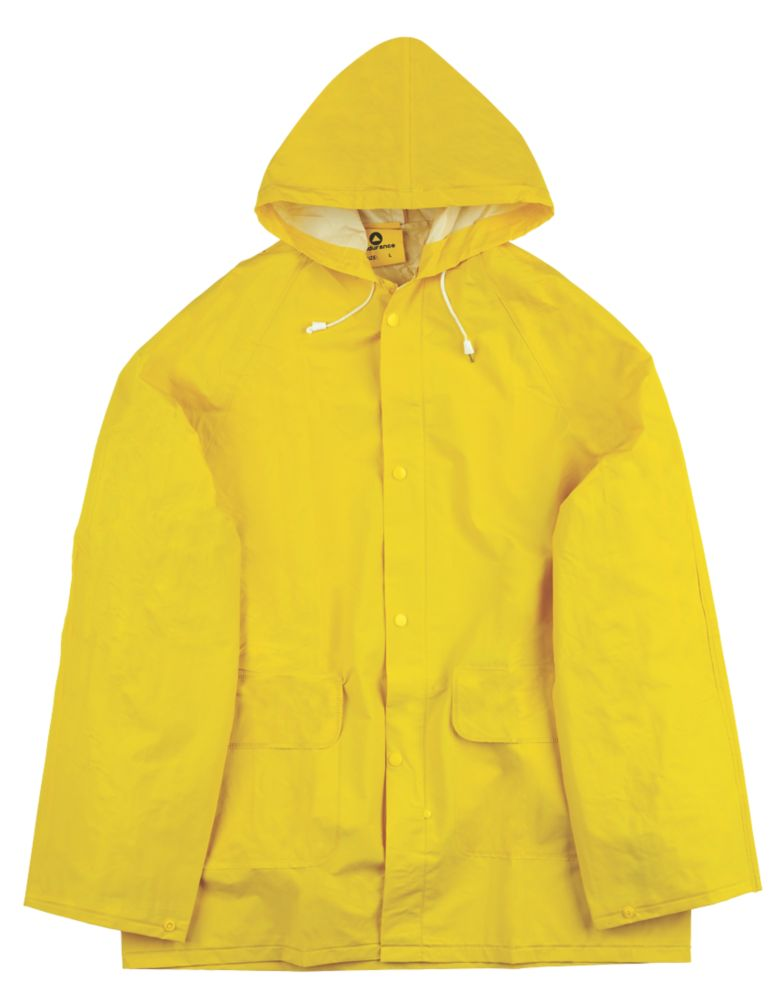 "Economy Waterproof 2-Piece Rain Suit Yellow Large 42-44"" Chest"
