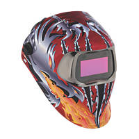 3M Speedglas 100V Welding Helmet Red / Silver / Orange