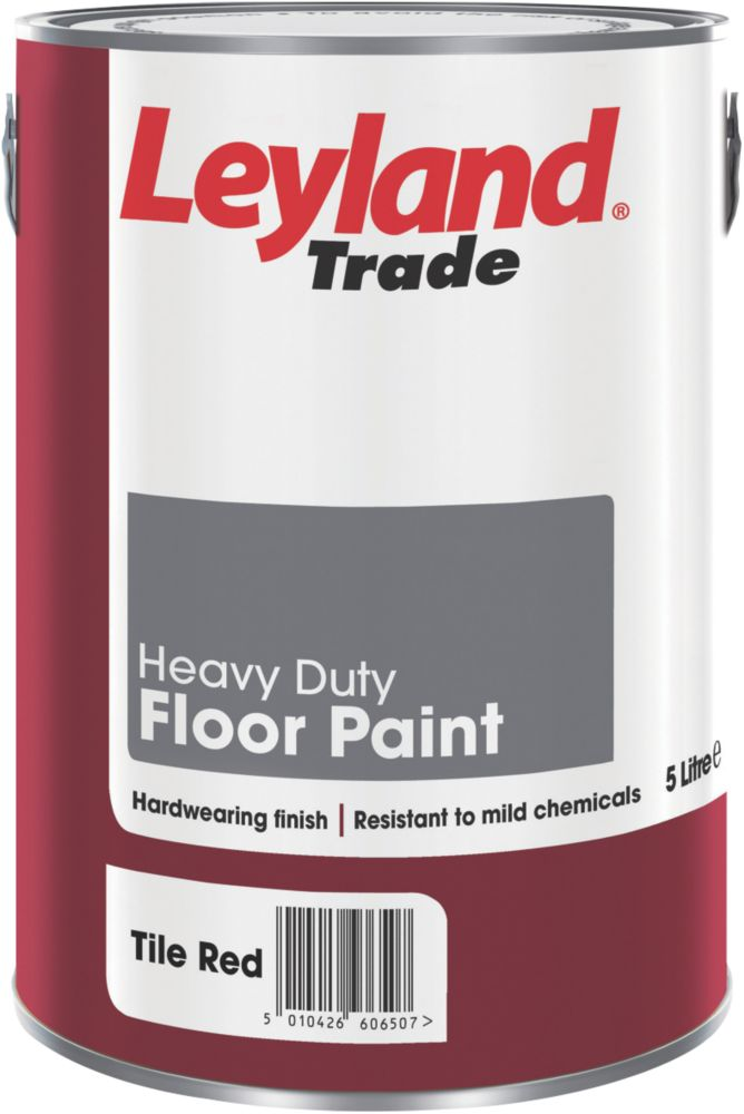 Leyland Heavy Duty Floor Paint Tile Red 5Ltr