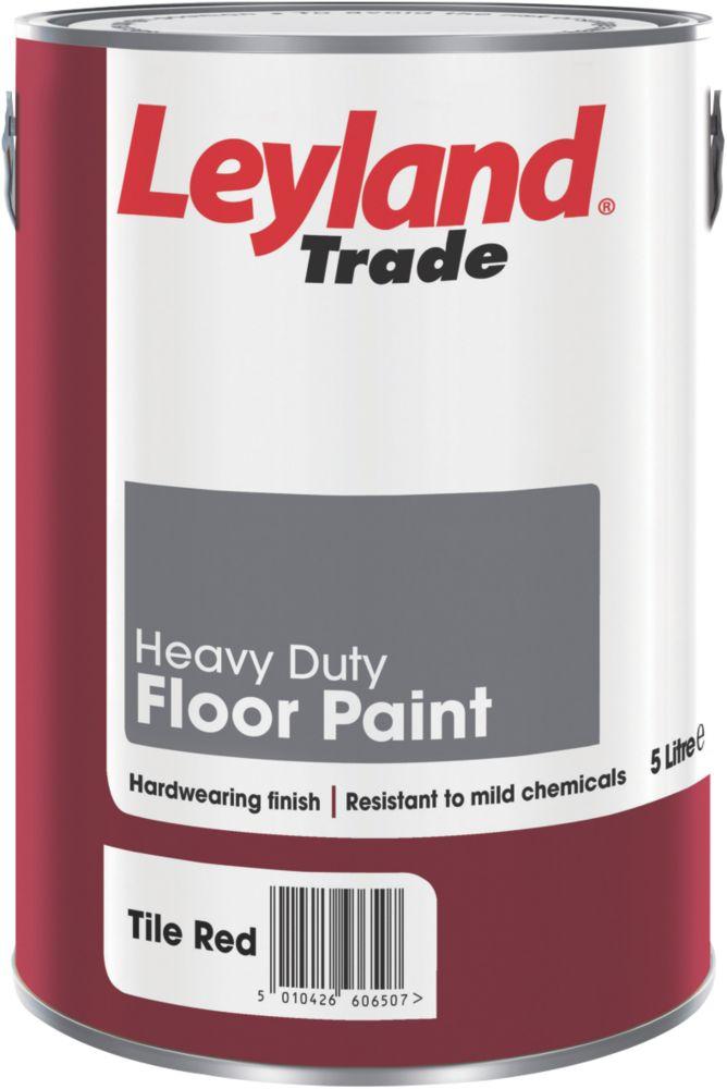 Leyland Heavy Duty Floor Paint Tile Red 5Ltr
