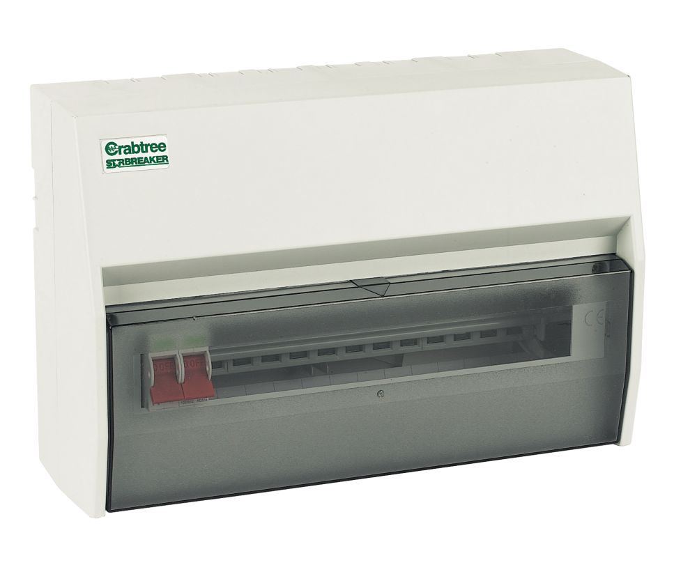 Crabtree 13-Way Fully Insulated Main Switch Consumer Unit