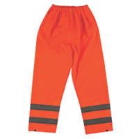 "Hi-Vis Trousers Elasticated Waist Orange X Large 27½-48"" W 31"" L"