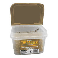 Timbadeck Double Countersunk Carbon Steel Decking Screws 4.5 x 65mm 500 Pack