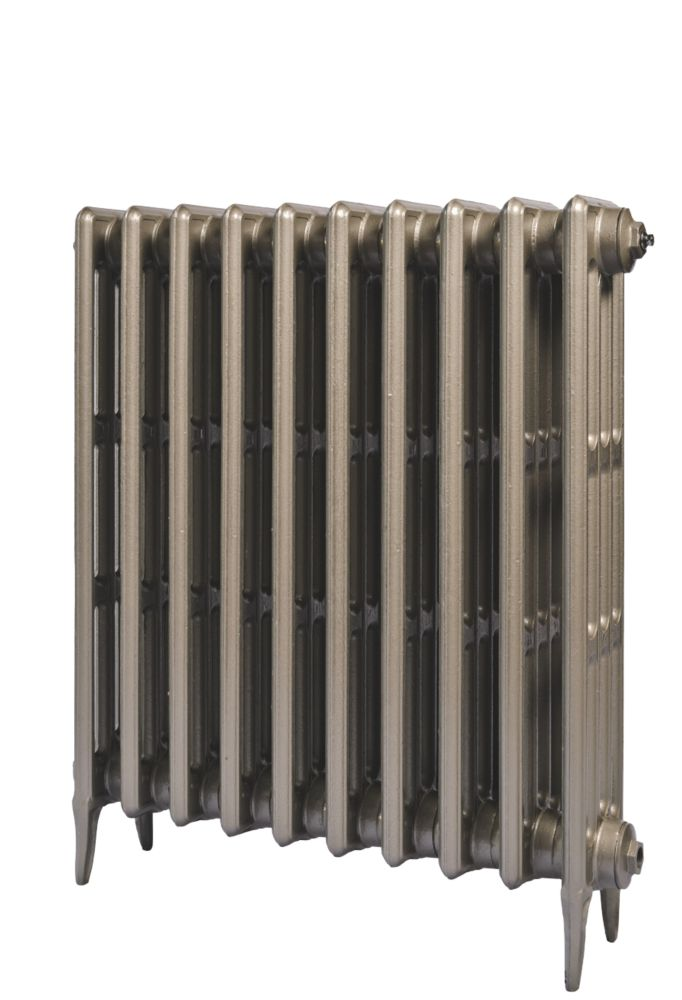 Cast Iron 760 Designer Radiator 4-Column Bronze H: 760 x W: 521mm