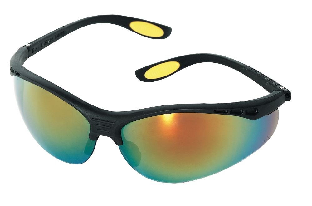 DeWalt Reinforcer Fire Mirror Lens Safety Specs