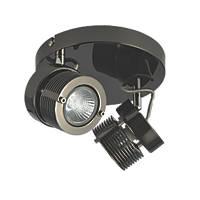 Inlight  2-Light Circular Spotlight Black Chrome 240V