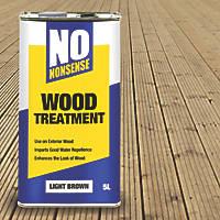No Nonsense Wood Treatment Light Brown 5Ltr
