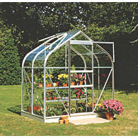 "Halls Supreme 46 Aluminium Greenhouse Toughened Glass 6' 3"" x 4' 3"""