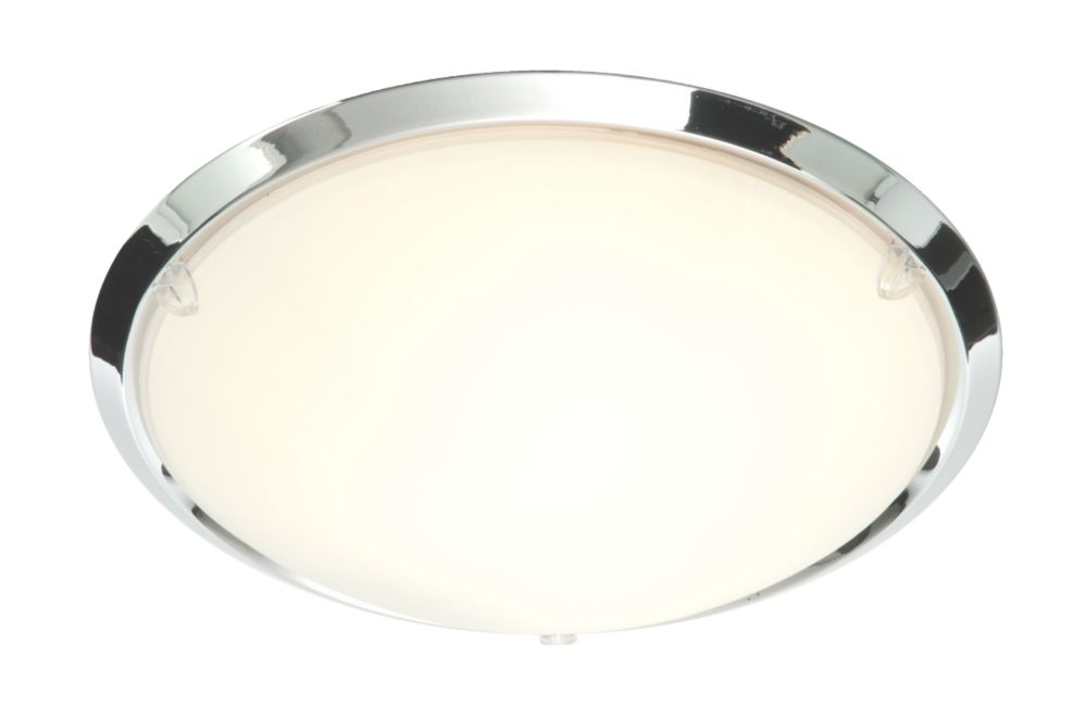 Masterlite Treviso Chrome Effect Rim Bathroom Ceiling Light E14 40W