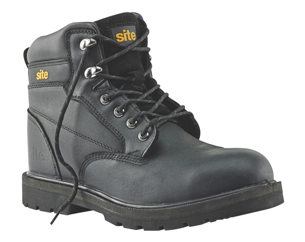 Site Rock Safety Boots Black Size 12