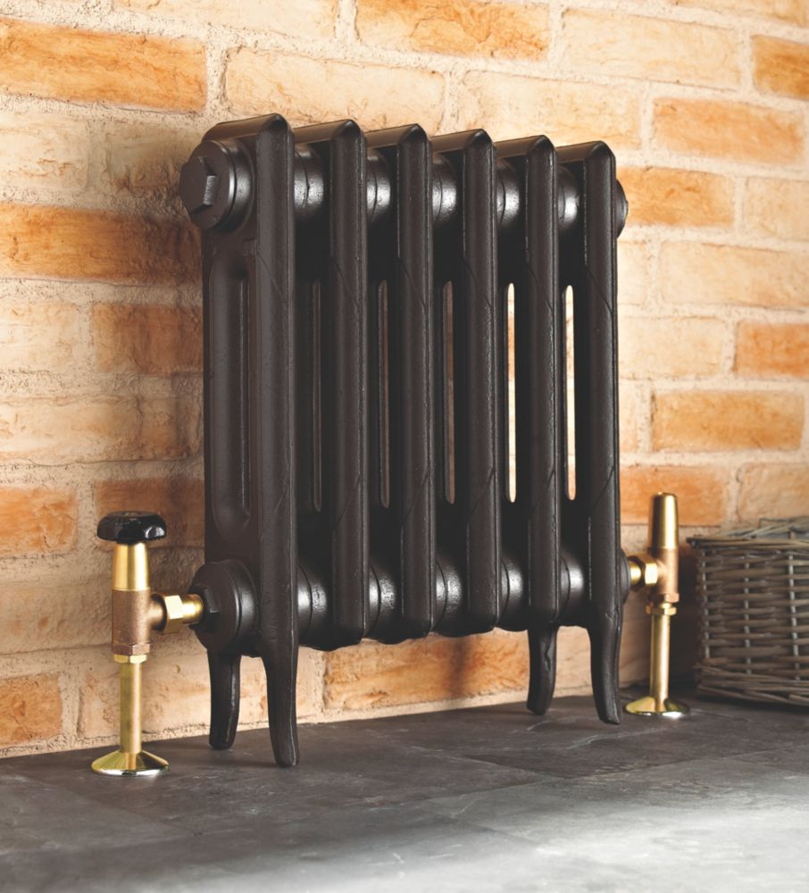 Cast Iron 460 Designer Radiator 2-Column Anthracite H: 460 x W:397mm