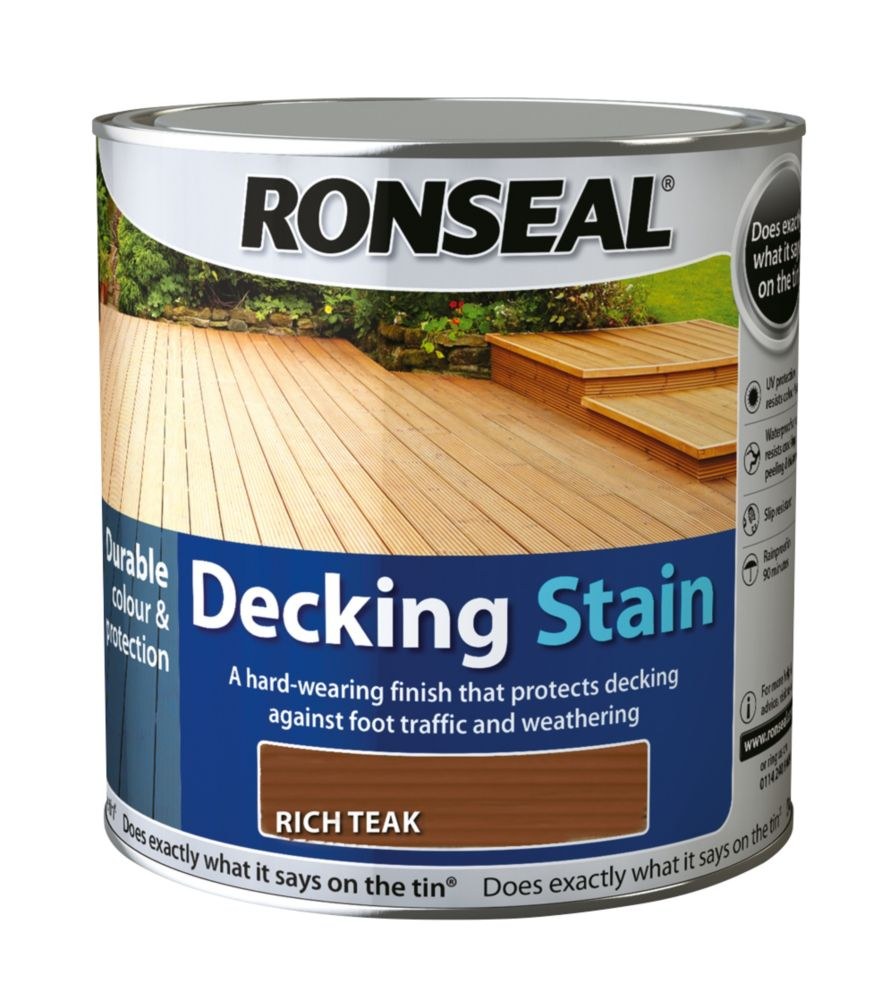Ronseal Decking Stain Rich Teak 2.5Ltr