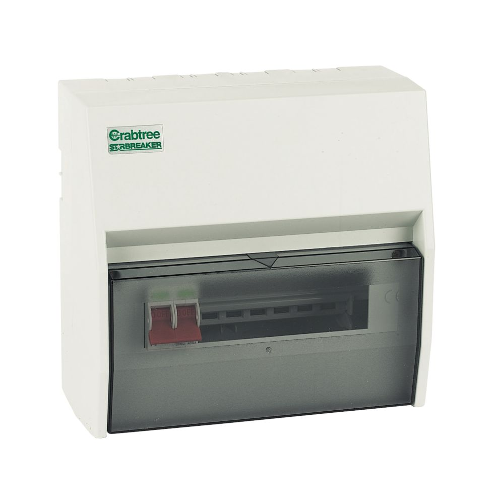 Crabtree 7-Way Fully Insulated Main Switch Consumer Unit