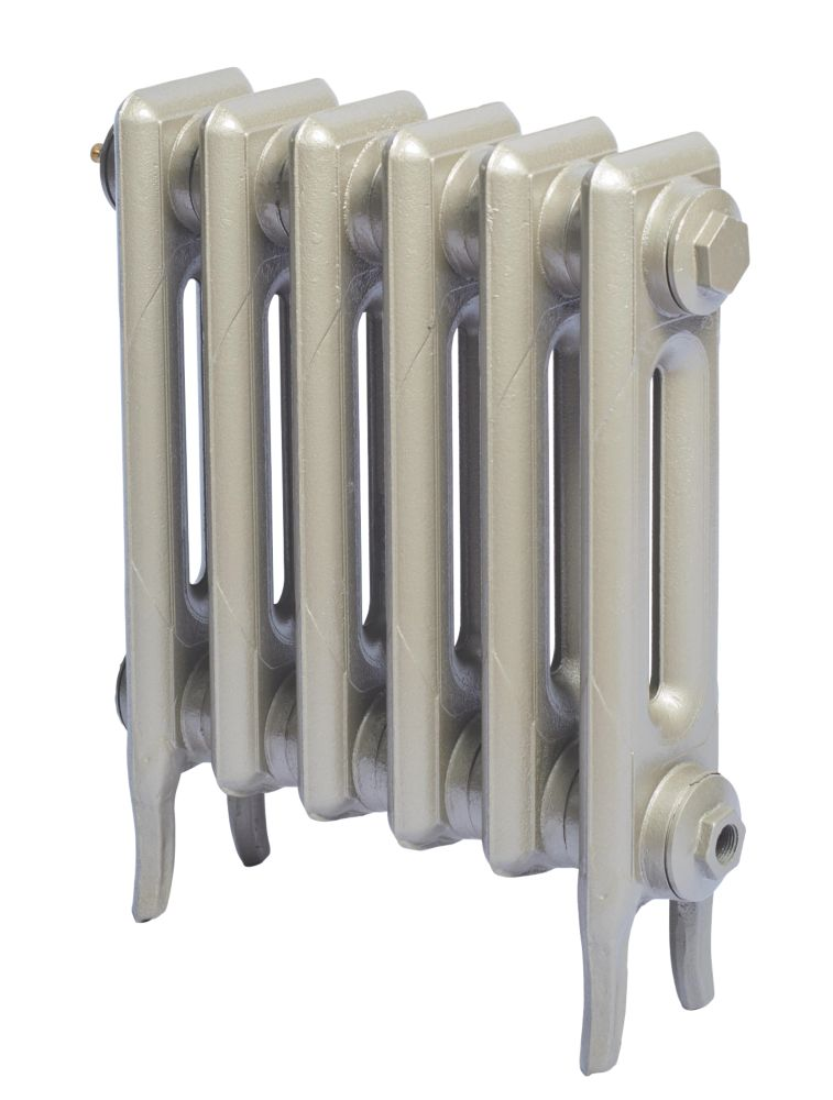 Cast Iron 460 Designer Radiator 2-Column Bronze H: 460 x W: 521mm