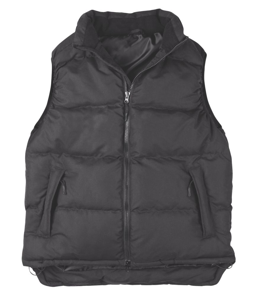 Site Ash Gilet Body Warmer Black Medium 40-41""