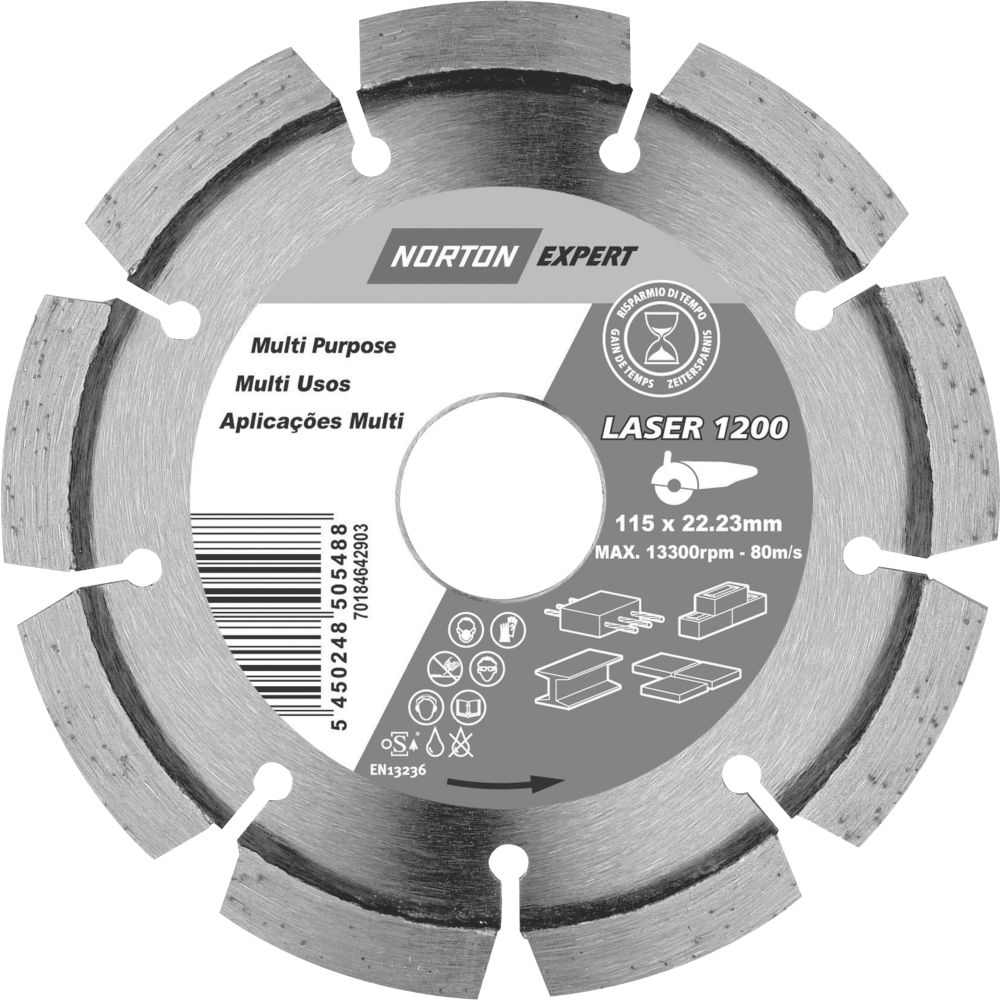 Norton Expert Multipurpose Diamond Blade 115 x 2 x 22.23mm