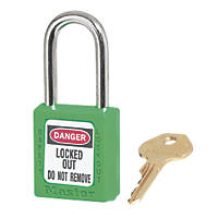 Master Lock Safety Lock-Off Padlock Green 20 x 38mm