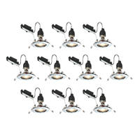LAP Fixed LED Downlight Contractor Pack Chrome 240V 10 Pack